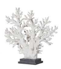 große, prächtige Deko-Koralle, schwarz & weiß