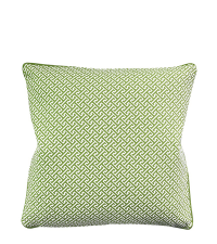 Kissenhülle aus Baumwolle mit geometrischem Quadrat-Muster, hellgrün
