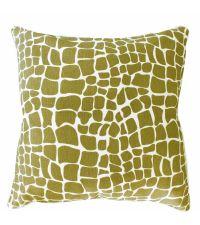 Kissenhülle aus Baumwolle mit Muster in Schlangen-Optik, hellgrün
