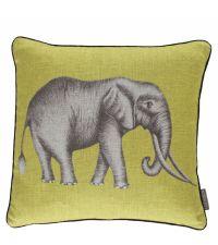 Dekokissen mit großem Elefanten-Motiv von Harlequin, grün