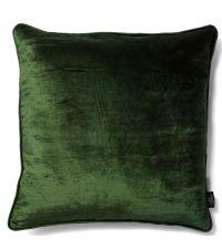 handgefertigte Kissenhülle aus Samt, Samtkissen dunkelgrün