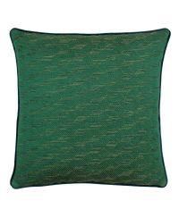 strukturierte, große Deko-Kissenhülle mit goldener Musterung, grün