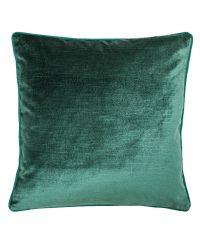 elegante Kissenhülle aus Samt mit strukturierter Oberfläche, dunkelgrün