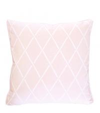 Kissenhülle aus Baumwolle mit geometrischem Muster, pastellrosa
