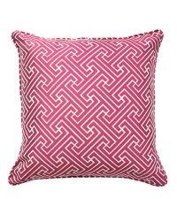 Kissenhülle mit geometrischem Muster in knalligem magenta
