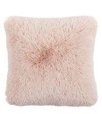 weiches Fellkissen mit kuschliger Oberfläche, roséfarben