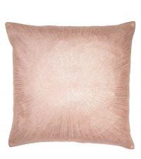 rosa Kissenhülle bestickt in Strahlen-Optik