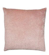 rosa Kissenhülle aus Samt mit gepunkteter, strukturierter Oberfläche