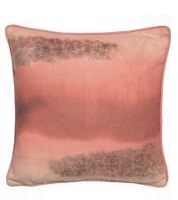 Kissenhülle in mehreren Pink-Nuancen mit Metallic-Goldfolie und Keder