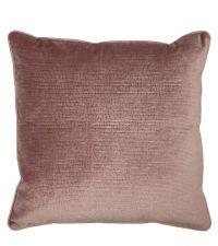 elegante Kissenhülle aus Samt mit strukturierter Oberfläche, blush