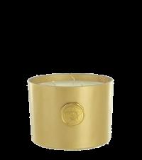 edle Duftkerze Mandarin Sandalwood in goldenem Glas mit Geschenkbox