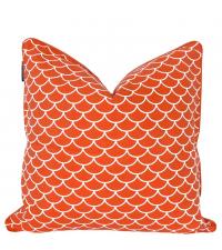 Kissenhülle aus Baumwolle mit geometrischem Muster,Mermaid orange