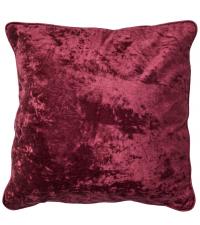 handgefertigte Kissenhülle aus Samt, Samtkissen rot