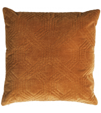 Dekokissen mit Samtbezug und geometrischem Muster, gold