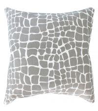 Kissenhülle aus Baumwolle mit grauem Animal-Print