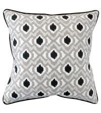 Kissenhülle aus Baumwolle mit grauer Musterung