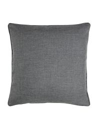 klassische, graue Kissenhülle mit Kederumrandung, 45 x 45 cm