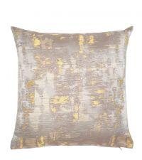 Kissenhülle mit abstrakter, reflektierender Musterung, gold