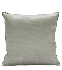 elegante Kissenhülle aus Samt mit strukturierter Oberfläche, silber