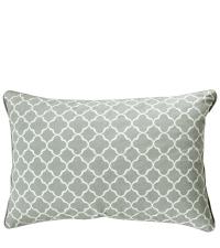 Kissenhülle Trellis aus Baumwolle mit geometrischem Muster, mint