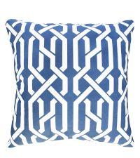 Kissenhülle aus Baumwolle mit geometrischem Muster in Marineblau