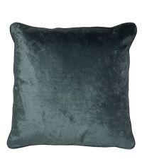 handgefertigte Kissenhülle aus Samt, Samtkissen türkisblau