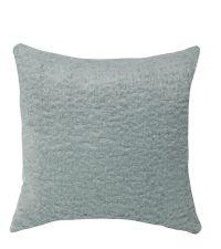 Kissenhülle mit kuschelig weicher Oberfläche, blaugrün
