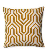 Dekokissen mit geometrischem Muster, honiggold