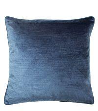 elegante Kissenhülle aus Samt mit strukturierter Oberfläche, dunkelblau
