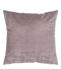 schimmernde Kissenhülle im Metallic-Look aus Samt in lila & taupe