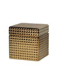 kleine Aufbewahrungsbox aus Keramik im Retro-Style, gold