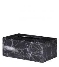 Taschentuchbox in schwarzer Marmor-Optik