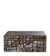 schimmernde Aufbewahrungsbox im Mosaik-Style