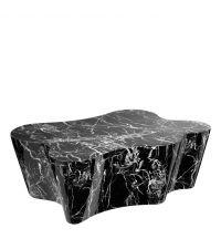 Couchtisch in schwarzer Marmor-Optik und geschwungenem Design von Eichholtz