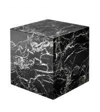 Schwarzer würfelförmiger Beistelltisch in Marmor-Optik von Eichholtz