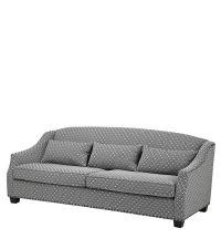 zweisitzer mit geometrischem muster und dunklen f en schwarz wei eichholtz. Black Bedroom Furniture Sets. Home Design Ideas