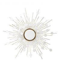 sonnenförmiger Spiegel mit kleinen Spiegelplättchen, gold Eichholtz