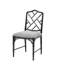 Sessel aus lackiertem Holz und schwarz-weiß karierter Polsterung von Eichholtz