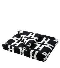 Decke aus Baumwolle mit geometrischem Muster Eichholtz, schwarz & weiß