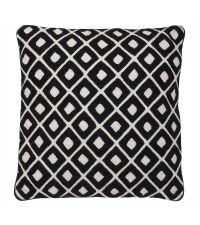 Bestickte Kissenhülle aus Baumwolle mit geometrischem Punkt-Muster Eichholtz, schwarz & weiß