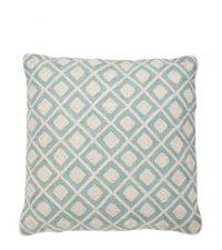 Bestickte Kissenhülle aus Baumwolle mit geometrischem Punkt-Muster Eichholtz, hellblau
