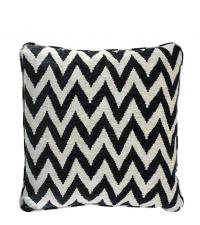 Kissenhülle aus Baumwolle mit Zick-Zack-Muster Eichholtz, schwarz beige
