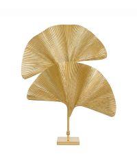 Kunstvolle Tischlampe in goldener Palmenblatt-Form aus Metall von Eichholtz
