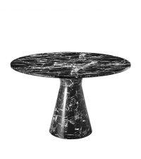 schwarzer w rfelf rmiger beistelltisch in marmor optik von. Black Bedroom Furniture Sets. Home Design Ideas