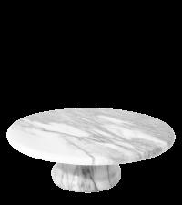 trendiger Tortenständer aus Marmor weiß/grau