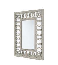 Spiegel aus Naturholz mit Rahmen mit Kreismuster