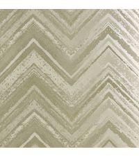 Tapete mit Zickzack-Muster, Hintergrund hellsilber mit taupen und cremen Streifen