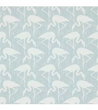 Tapete mit Flamingos, Hintergrund grau matt und Flamingos weiß matt