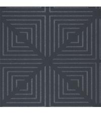 anthrazitfarbene Tapete mit geometrischem Muster aus Perlen, Vliestapete anthrazit