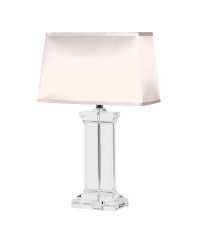 tischlampe mit rundem glasfu aus klarem glas lampenschirm. Black Bedroom Furniture Sets. Home Design Ideas